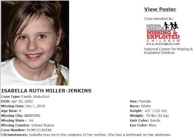 Anúncio sobre o desaparecimeno da menina (Foto: Reprodução)
