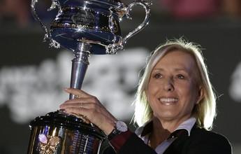 Aos 47 anos, Martina Navratilova foi a tenista mais velha a disputar os Jogos