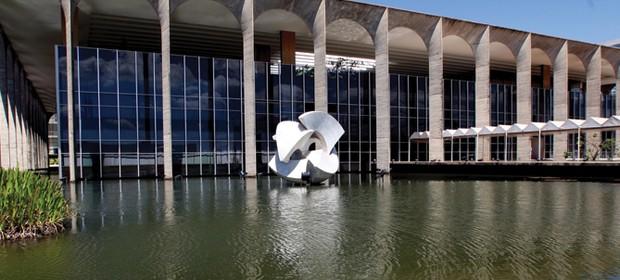 Fachada do Ministério das Relações Exteriores, o Palácio do Itamaraty, em Brasília (Foto: Gustavo Miranda/Agência O Globo)