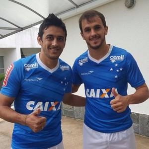 Robinho e Lucas Cruzeiro (Foto: Divulgação/ Cruzeiro)