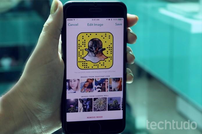 Snapchat - com marca (Foto: Carolina Ochsendorf/TechTudo        )