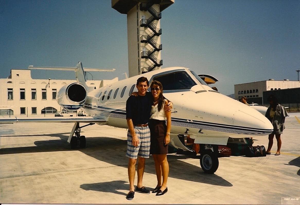 Senna e Adriane (Foto: Reprodução)