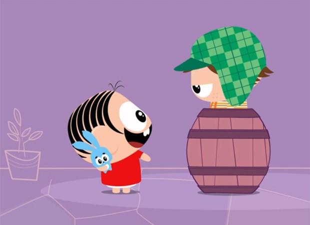 Mônica e Chave em desenho da série 'Mônica Toy' (Foto: Reprodução)