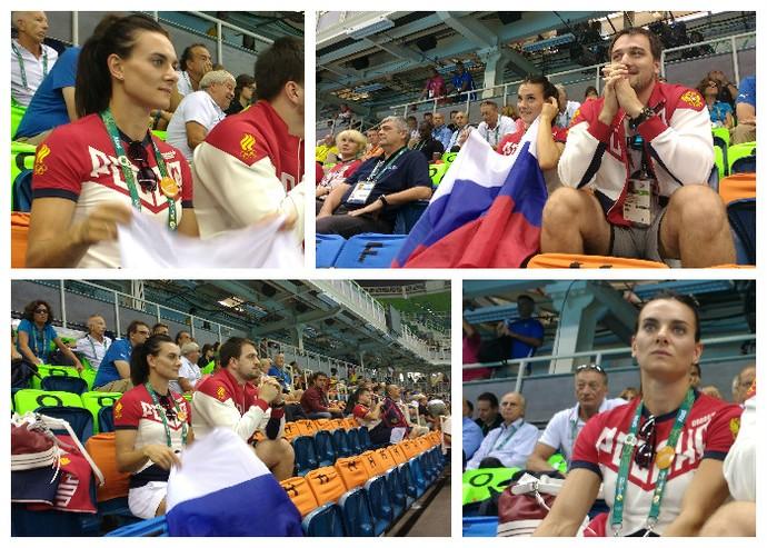 Yelena Isinbayeva torcedora (Foto: Renan Morais)