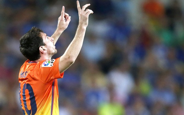 Messi comemora gol contra o Getafe (Foto: Agência Reuters)