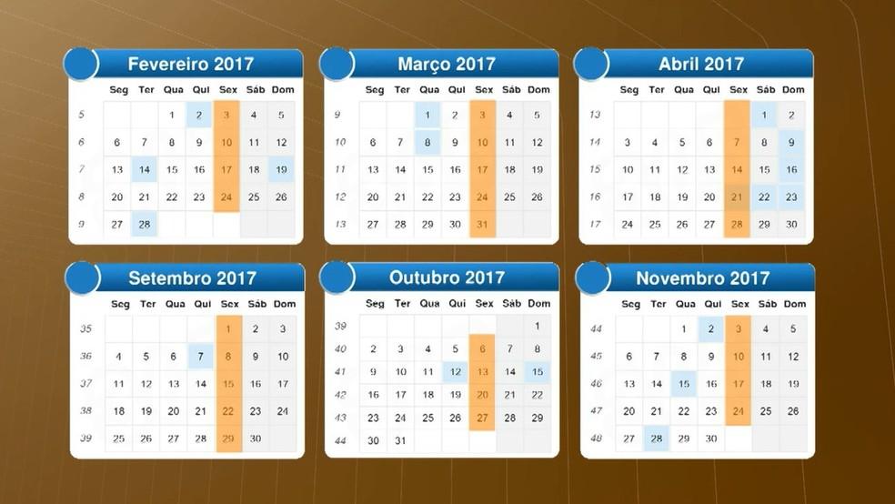Calendário de sessões da câmara de vereadores de Baía da Traição em 2017 (Foto: Reprodução/TV Cabo Branco)