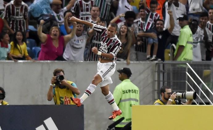 Marcos Junior gol - Fluminense x Palmeiras (Foto: André Durão / GloboEsporte.com)