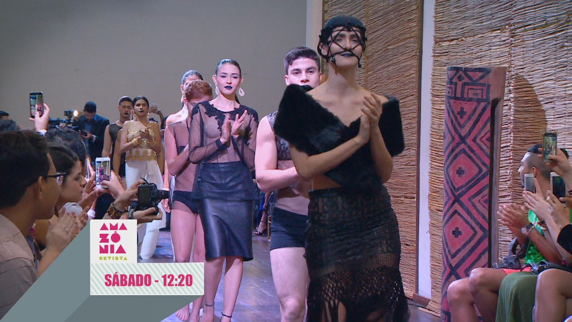 Desfile de moda é destaque no Revista deste sábado (19) (Foto: Reprodução/Rede Amazônica)