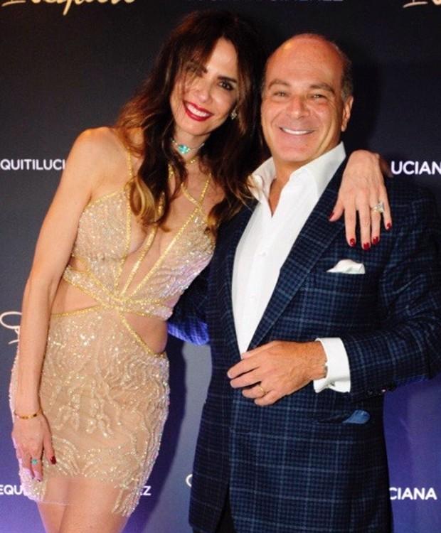 Luciana Gimenez e o marido, Marcelo de Carvalho (Foto: Samuel Chaves/Brazil News)