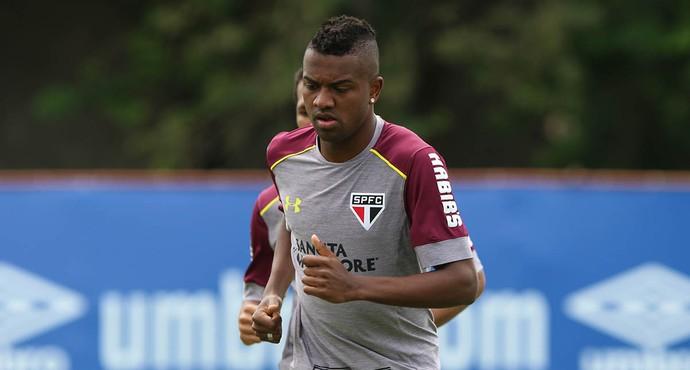 Kelvin São Paulo treino (Foto: Site oficial/São Paulo)