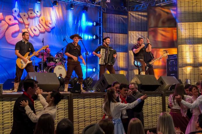 Tchê Chaleira Galpão Crioulo Três Coroas em Festa  (Foto: Maicon Hinrichsen/RBS TV)