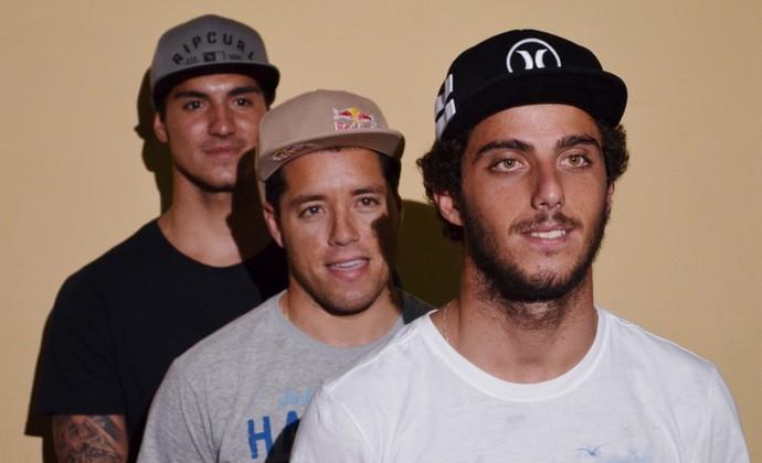 Gabriel Medina, Mineirinho, Filipe Toledo (Foto: Danilo Sardinha/GloboEsporte.com)