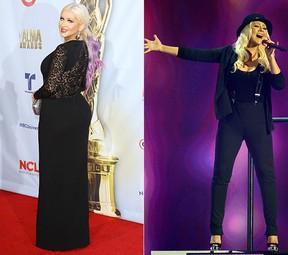 Cristina Aguilera - Antes e Depois (Foto: Agência Getty Images)