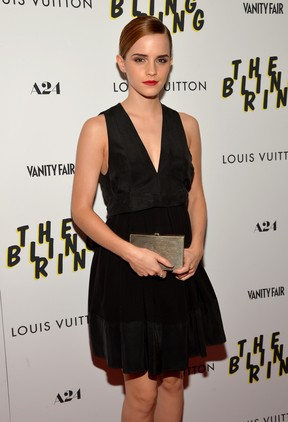 Emma Watson em première de filme em Nova York, nos Estados Unidos (Foto: Mike Coppola/ Getty Images/ AFP)