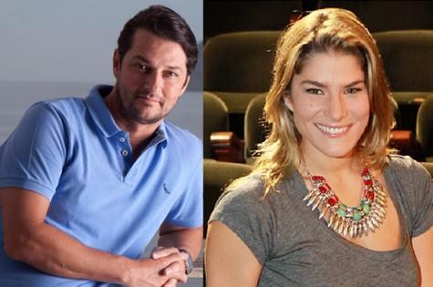 Marcelo Serrado e Priscila Fantin: piloto do 'A casa caiu' (Foto: TV Globo e Marcelo Martins/Extra)