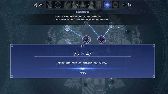 Final Fantasy XV: Ao confirmar a compra dos atributos, a tela indicará como fica seu saldo de PA (Foto: Reprodução / Thomas Schulze)