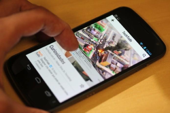 Galaxy X, também conhecido como Galaxy Nexus (Foto: Allan Melo/TechTudo)