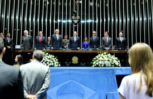 Sessão solene do Senado em homenagem aos 50 anos da TV Globo (Foto: Geraldo Magela/Agência Senado)