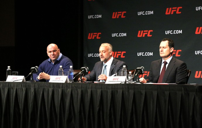 Coletiva doping UFC Dana White (Foto: Evelyn Rodrigues)
