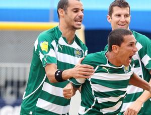II Mundialito de Clubes futebol de areia corinthians alan madjer belchior sporting-POR (Foto: Gaspar Nobrega / Inovafoto)