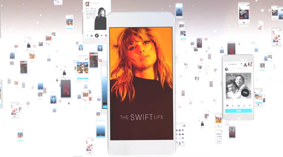 """Prévia do aplicativo """"The Swift Life"""" (Foto: Reprodução/YouTube/Taylor Swift)"""