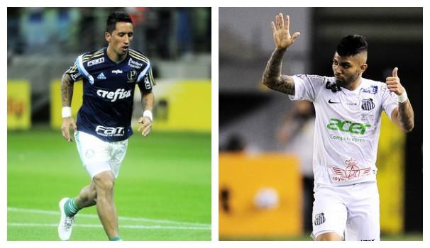 Palmeiras x Santos (Foto: montagem/GE)