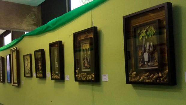 'A Arte da Terapia' fica exposta até o dia 31 de outubro, em Cascavel (Foto: Divulgação)