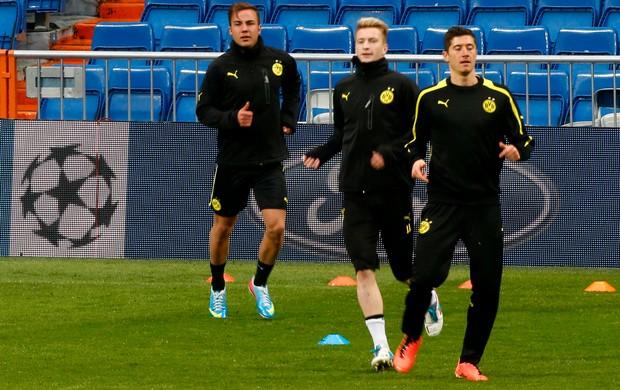 Lewandowski, Reus e Götze Borussia Dortmund (Foto: Reuters)