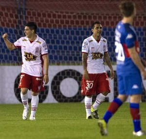 Huracan gol Tigre Sul-Americana (Foto: Reprodução Twitter / Conmebol)