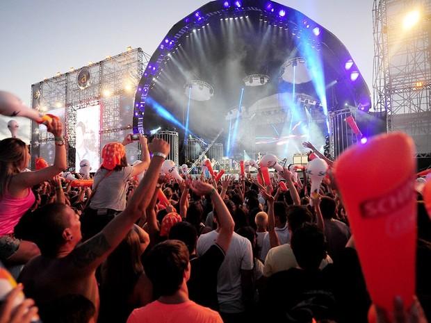 A primeira noite de shows animou a todos no Planeta Atântida; no sábado teria mais (Foto: Vinicíus Costa / Divulgação)