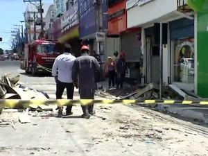 Explosão Farmácia_Camaçari (Foto: Reprodução/TV Bahia)