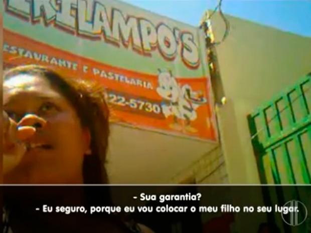 Situação foi flagrada na Escola Municipal IV Centenário, em Natal (Foto: Reprodução/Inter TV Cabugi)