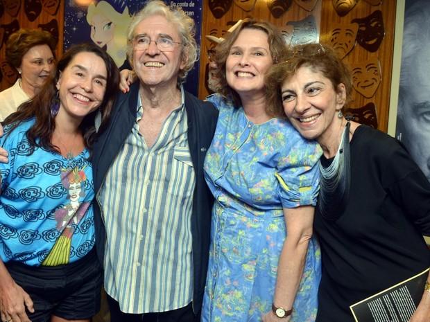 Lucélia Santos, Juca de Oliveira, Louise Cardoso  e Marília Pêra em teatro na Zona Sul do Rio (Foto: Cristina Granato/ Divulgação)