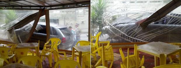 Restaurante estava fechado e ninguém ficou ferido (Foto: Luciano André Valmorbida / Arquivo Pessoal)