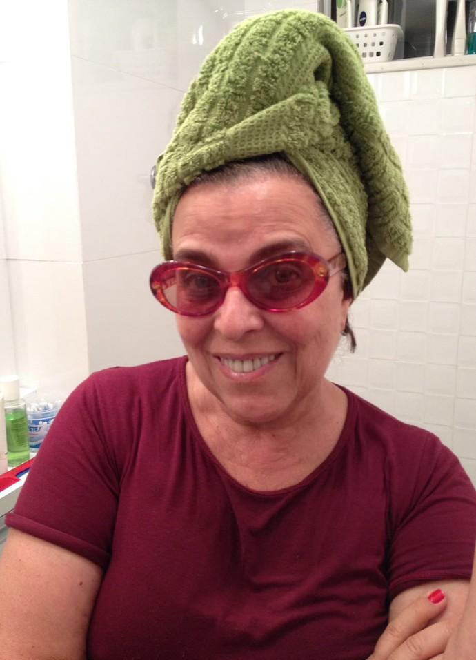 Guida Vianna topou o desafio #toalhanacabeça (Foto: Arquivo pessoal)