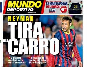 reprodução capa do jornal MUndo Deportivo Neymar barcelona (Foto: Reprodução / Jornal Mundo Deportivo)