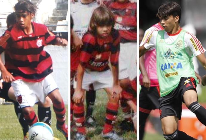 Montagem Lucas Paquetá Flamengo (Foto: Editoria de arte)