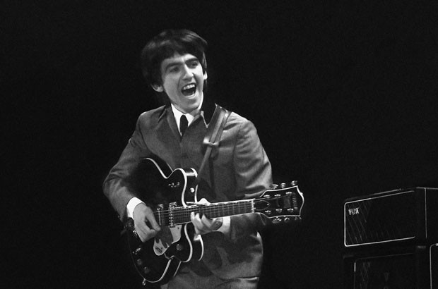 George Harrison durante o primeiro show dos Beatles nos EUA (Foto: David Anthony Fine Art/Mike Mitchell/AP)