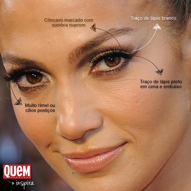 A maquiagem de Jennifer Lopez (Foto: Getty Images)