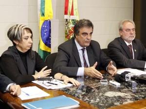 Ministro chegou a Santa Catarina no final da tarde desta sexta-feira (3) (Foto: Neiva Daltrozo/Secom/Divulgação)