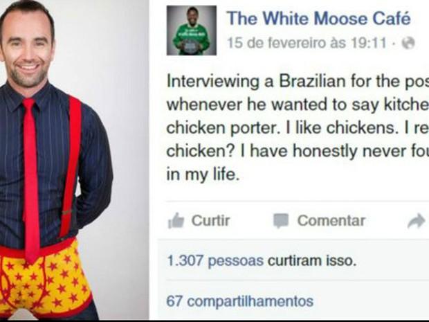 Após fazer piada com brasileiro, Paul Stenson foi acusado de xenofobia e alvo de campanha online (Foto: Reprodução/BBC)