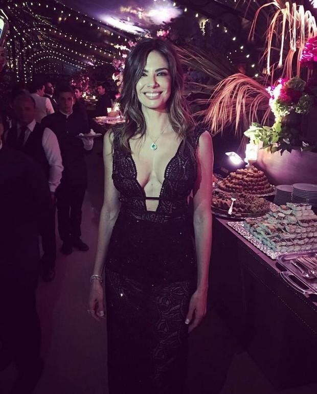 Luciana Gimenez no casamento de Ana Beatriz Barros (Foto: Reprodução/Instagram)