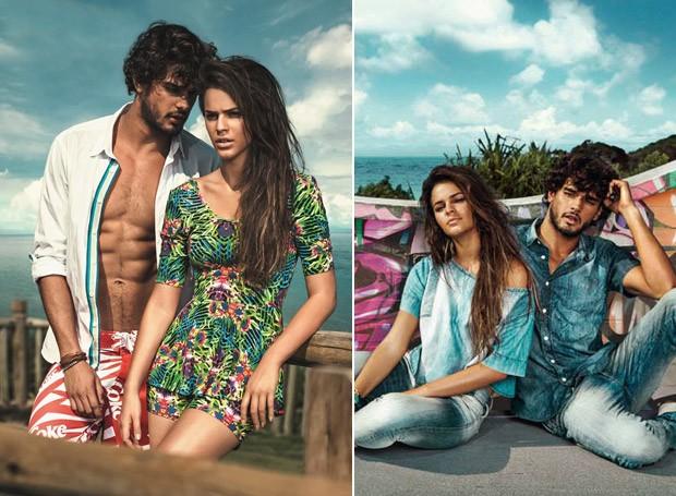 Bruna e Marlon posam juntos em campanha da Coca-Cola Jeans. (Foto: Divulgao)
