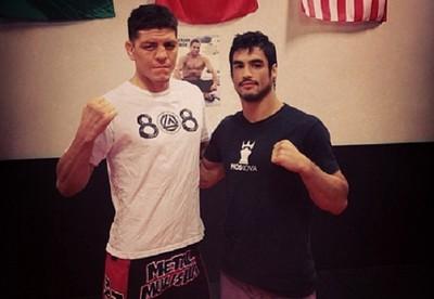 Nick Diaz e Kron Gracie (Foto: reprodução/Instagram)
