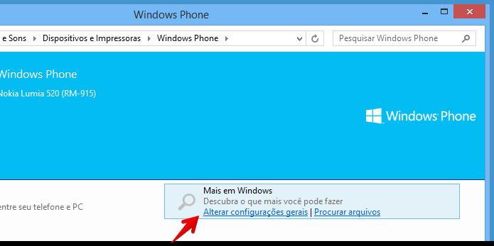 Alterando configurações do Windows Phone (Foto: Reprodução/Helito Bijora)