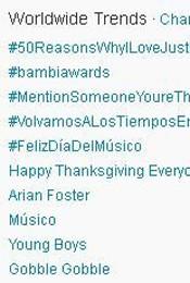 Trending Topics no Mundo às 17h15 (Foto: Reprodução)