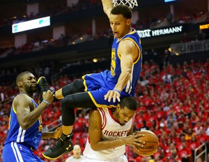 Stephen Curry  lesão Houston Rockets Golden State Warriors (Foto: AFP)