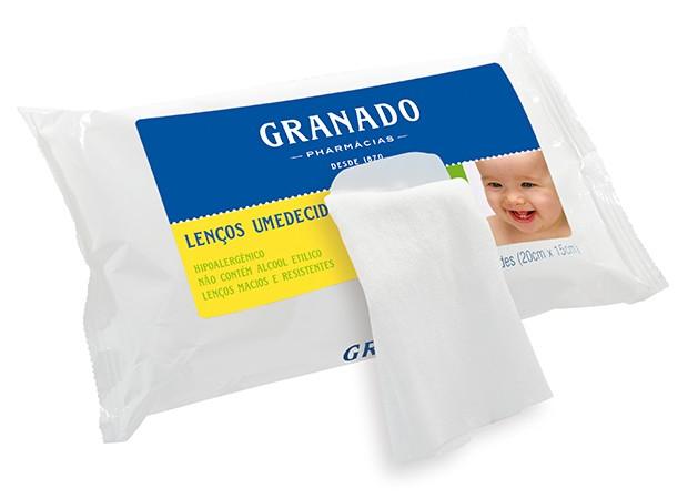 Lenços Umedecidos Granado: próprios para bebês e com sistema de dobra um a um (Foto: Divulgação)