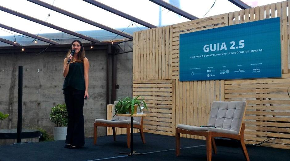 Anna Aranha, diretora do Quintessa, durante o lançamento da nova versão do Guia 2.5 (Foto: Filipe Oliveira)