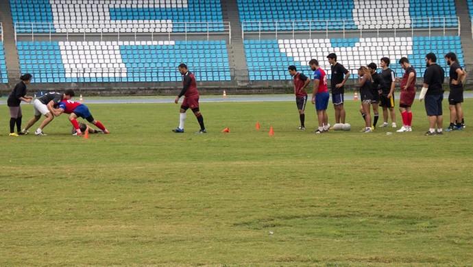 Treino UFJF Rugby e JF Rugby 4 (Foto: Caio Pereira/Divulgação)